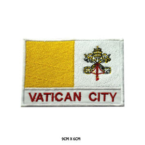 Vatican-City-National-Flag-Embroidered-Patch-Iron-on-Sew-On-Badge-For-Clothe-etc