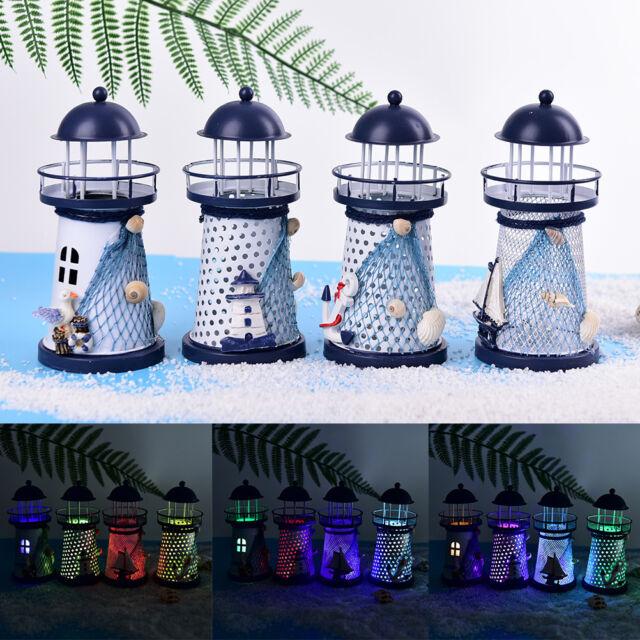 LEDlight metal lighthouse anchor mediterranean decorative home nautical decor TE