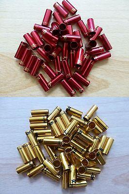 XLC Endkappen 5mm Bremsaußenhülle Gold, Rot Bowdenzug Bremszug Endhülsen BR-X10
