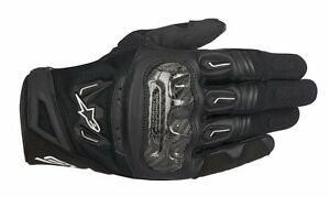 Alpinestars-Men-SMX-2-AIR-CARBON-V2-Black-Short-SUMMER-Motorcycle-Gloves
