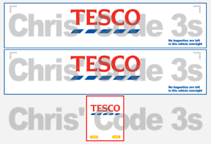 Tesco No Baguettes Left 1//50 1//76 1//148 Code 3 Adhesive Vinyl Trailer Decal