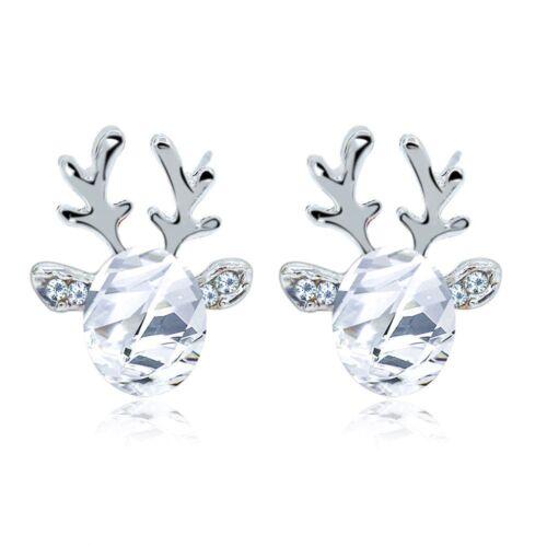 Moderna Encantadora Joyas de Cristal Pendientes con regalos de Navidad de cuernos de ciervo 2018