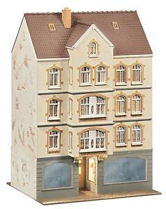 FALLER-130447-Maison-de-ville-avec-Pub-135x125x200mm-NOUVEAU-amp-VINTAGE