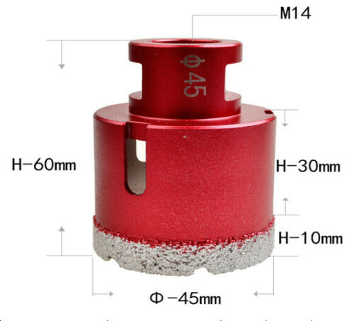 New Diamond Drill Bit Ø 6~68mm Diamond Drilling Tile tool for Angle Grinder M14