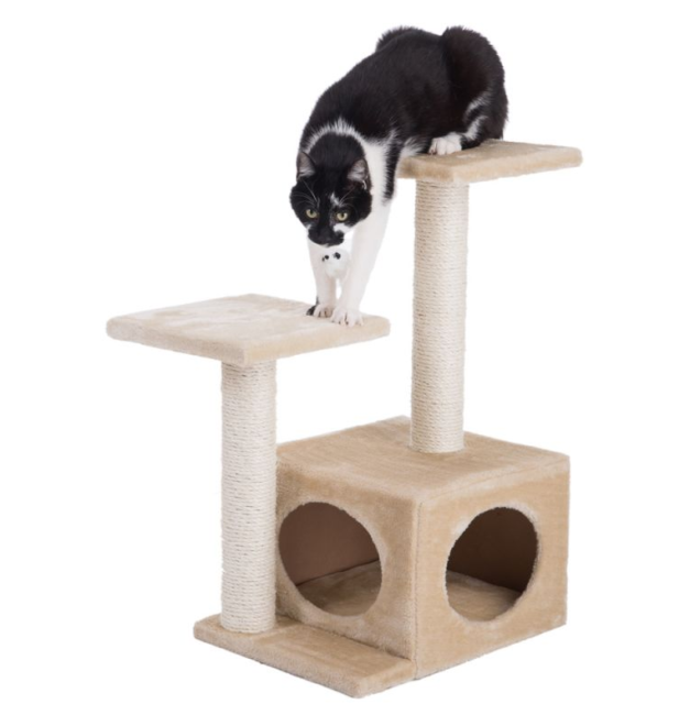 Oasis Cat Tree 2 Platforms Exciting Playground Playing Hiding Relaxing Your Pet For Sale Ebay
