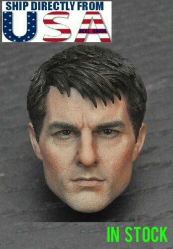 Vendeur Échelle 1//6 Tom Cruise Head Sculpt un pour Hot Toys PHICEN figure masculine U.S.A