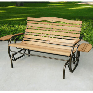 Image Is Loading Patio Glider Porch Rocking Swing Bench 2 Seat