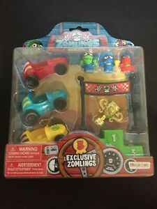 MagicBox-Zomlings-RACE-Blister-inc-3-exclusive-zomlings-3-CARS-TROPHY-RARE