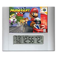 Mario Kart 64 video game box art Digital Wall Desk Clock temperature + alarm