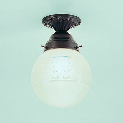 Deckenleuchte PS12-115ae original Berliner Messinglampe Lampe Glas Messing