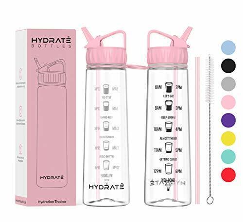 900 ml Hydrate Motivational Paille Bouteille d/'eau avec le temps des marques pour aider
