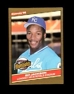 1987 Donruss Bo Jackson Highlights Baseball Card #43 KC Royals Mint