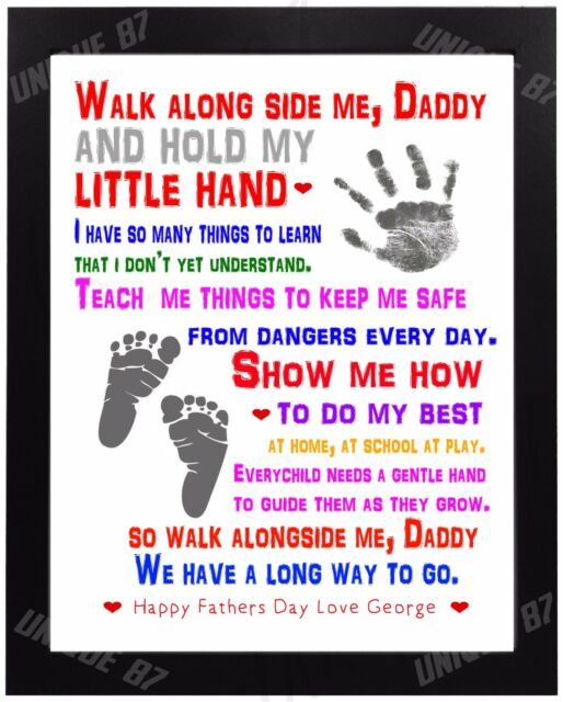 PERSONALISED Birthday Gifts for DADDY DAD GRANDAD HIM Hand on Hand Presents