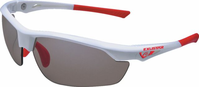 EXUSTAR Bike Bicycle Cycling Photochromic Adjustable Sunglasses White Red