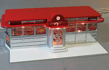 LIONEL LIGHTED LUXURY DINER home scenery train yard building o gauge 6-82036 NEW