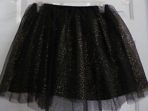 6f745b4dfe Cat & Jack (Target) Kid Girl Sparkly Holiday Black Tulle Skirt Size ...