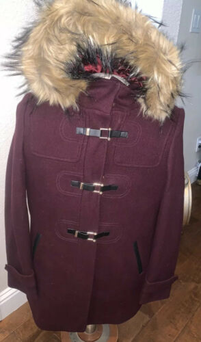 Cole Haan Women's Wool Twill Short Duffel Coat Bo… - image 1