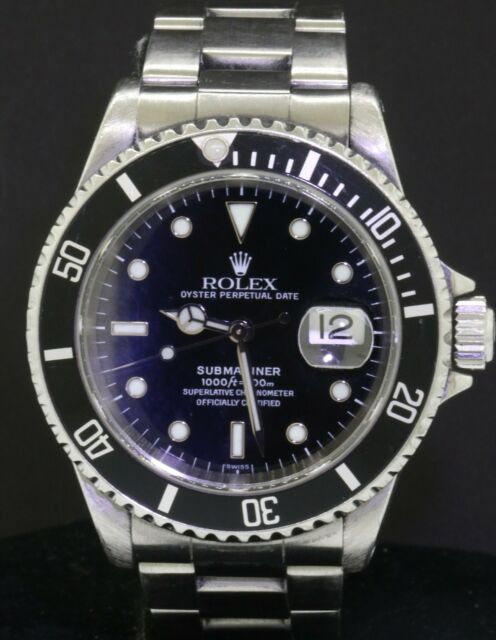 Rolex Submariner 16610 SS 1999 automatic men's diving watch A-serial #