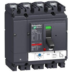 Schneider Compact Nsx160f 160a 160 Amp 4 Pole 4p Mccb Lv430651 Circuit Breaker Ebay
