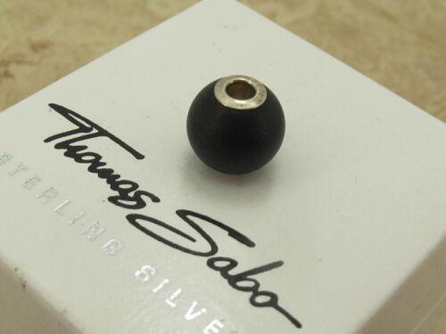 THOMAS SABO Designer Sterling Silver 925 Black Obsidian Karma Bead Charm