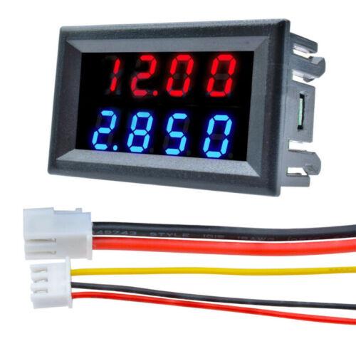 4Bit Digital Voltmeter Amperemeter Blau Rot LED Amp Doppelt Volt Meter Einbau