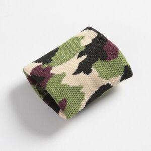 Boys Mens Green Brown Camouflage Army Wristband Sweatband - Brand New
