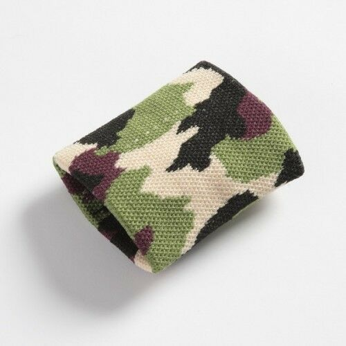Brand New Boys Mens Green Brown Camouflage Army Wristband Sweatband