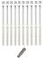10-St-10x120-Rahmendubel-Fensterrahmendubel-Dubel-Senkkopf-Torx-40-incl-Bit-S miniature 1