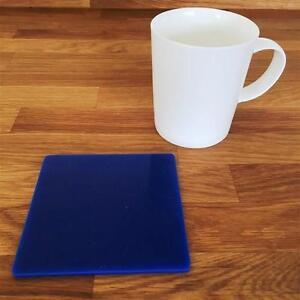 """Discipliné Carré Bleu Vernis Acrylique Coasters, Ensembles De 4, 6 Ou 8, 10.5 Cm 4""""-afficher Le Titre D'origine"""