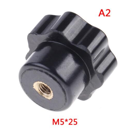 Plastic M4//M5//M6//M8 female thread seven star shaped head clamping nuts knob GAB