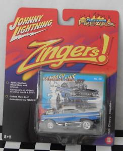 Johnny Lightning Street Freaks mordaces 68'59 Chevy Impala aletas de fantasía