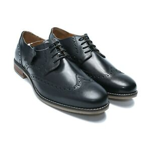 Men-039-s-Leather-Shoes-Formal-Dress-Derby-Lace-Up-w-Contrasting-seam-AU-UK-Size