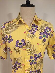 Reyn-Spooner-Mens-Hawaiian-Shirt-100-Cotton-Aloha-Camp-Floral-Size-Large
