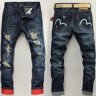 2016 New Jeans Men's Straight Casual Pants Denim Jean Pants Trousers