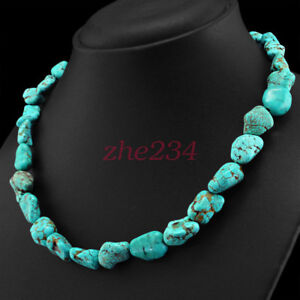 FINEST-CTS-NATURAL-UNTREATED-TURQUOISE-BEADS-NECKLACE-LOWEST-PRICE