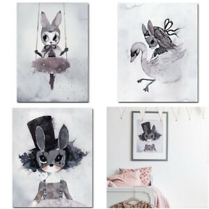 1pc-Rabbit-Canvas-Art-Prints-Poster-Kawaii-Picture-Children-Room-Decor-Unframed