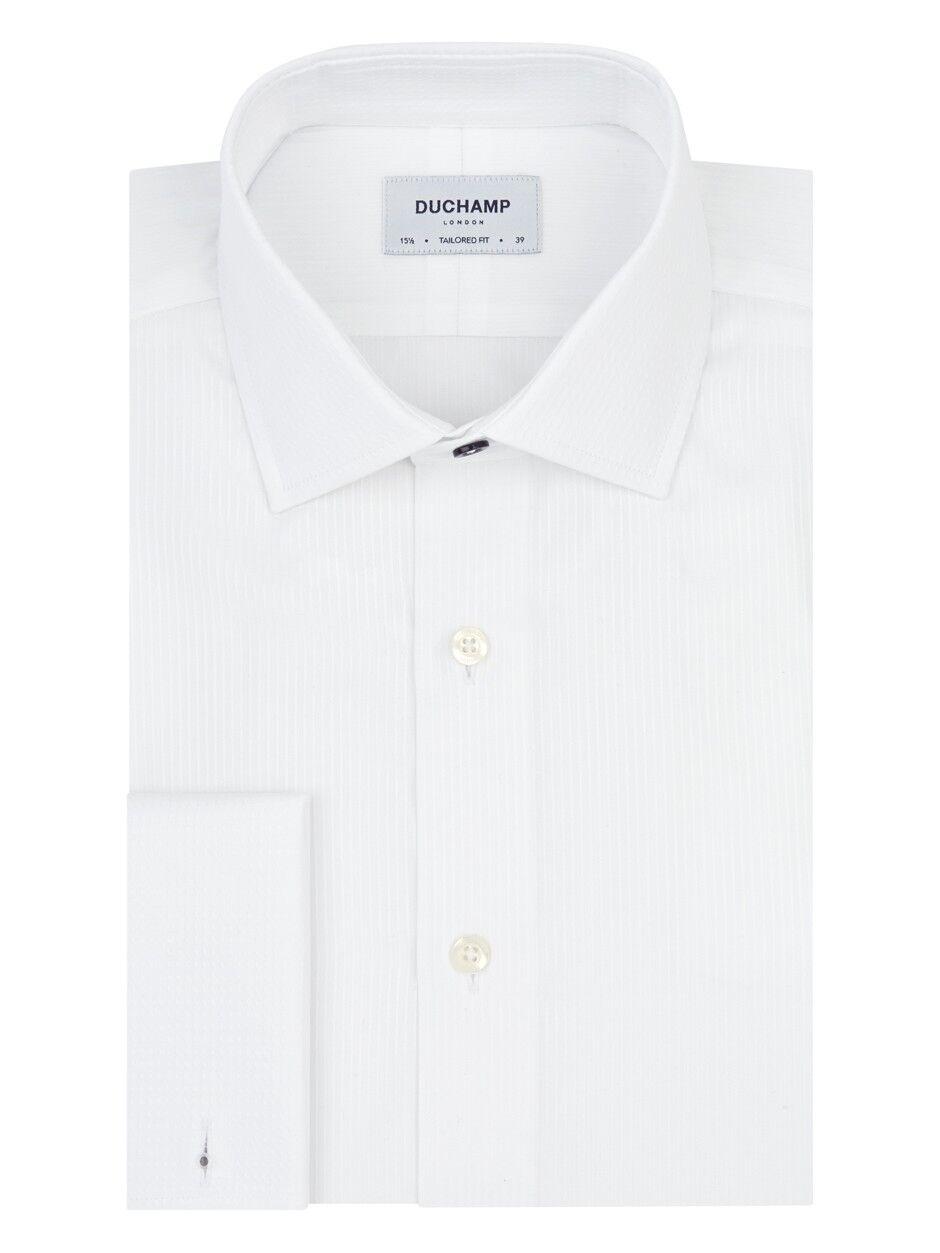 BNWT - Duchamp fine satin stripe hemd - 15.5  -