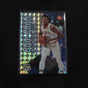 2019-20 De'Andre Hunter Rookie Card Blue Chips Mosaic Prizm Holo Atlanta Hawks