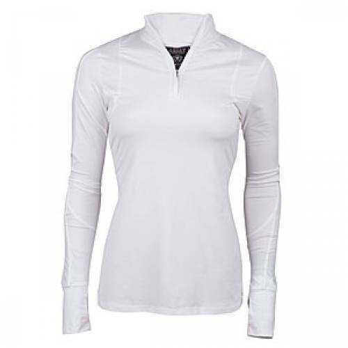 Ariat Ladies Lowell 14 Zip Top White