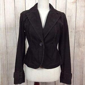 Ann Taylor Loft Size 2 Brown Corduroy Women S Dress Coat Jacket Suit