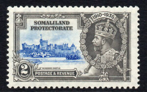 Somaliland-Silver-Jubilee-2-Anna-Stamp-c1935-Mounted-Mint-1650