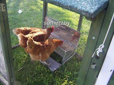 Chicken Feeder Somerzby treadle Aluminium Chook Poultry- FULLY ASSEMBLED- SALE