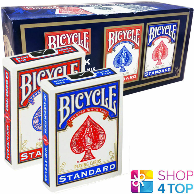 12 DECKS BICYCLE RIDER BACK STANDARD INDEX PLAYING CARDS SEALED BOX CASE USPCC