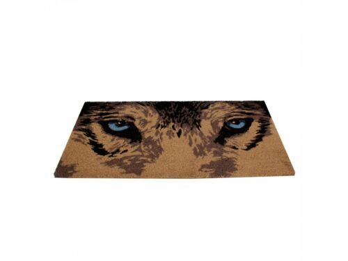 PVC Backed Nemesis Now Brushed Coco Gorgeous Wolf Face Doormat