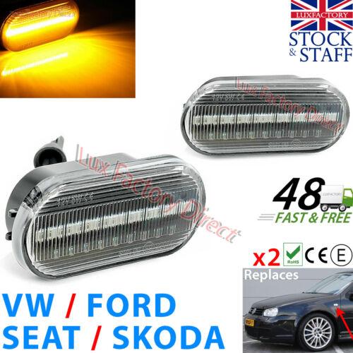 2x Ford Fiesta Focus CMax Fusión Lado Indicador LED Galaxy Mii claro luxfactory
