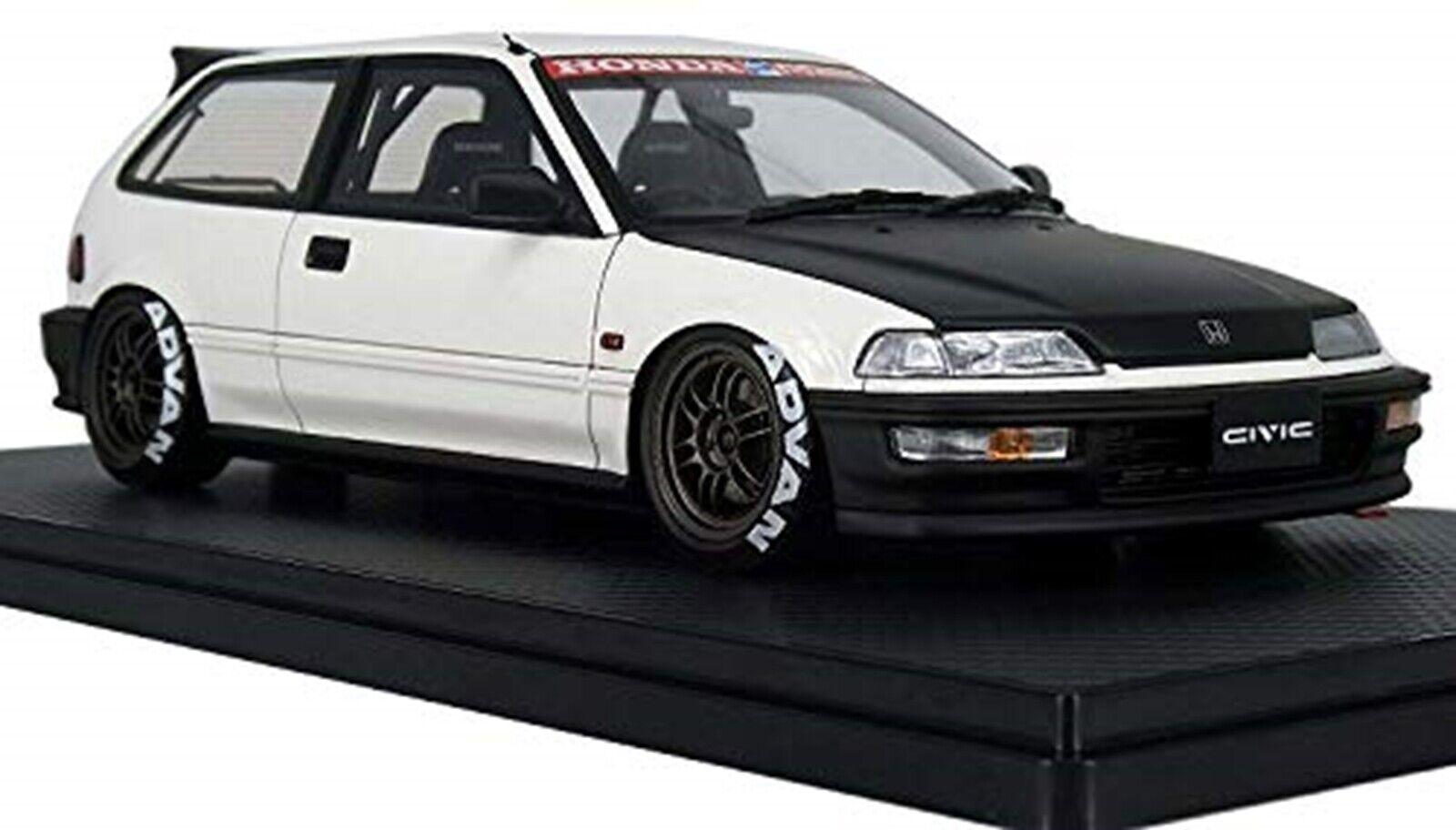 Ignición Modelo 1 18 Honda Civic (ef 9) Sir blancoo Negro completado Nuevo Japón