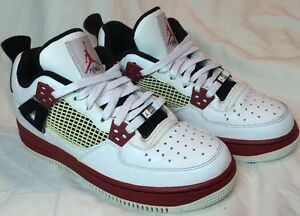 Details about Air Jordan 4 IV White varsity Red black Fusion Air Force AF1 AJF4 size 6.5Y