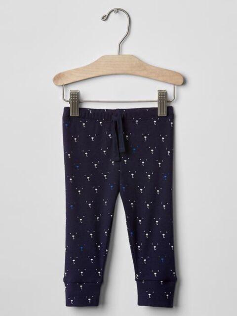 NWT BABY GAP BOYS JERSEY PULL-ON CANVAS JOGGERS navy blue PANTS u pick size
