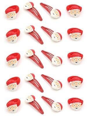 Imparziale Zest 20 Accessori Per Capelli Con Faccia Di Babbo Natale 10 Ponios & 10 Clip Rosso-mostra Il Titolo Originale Belle Arti