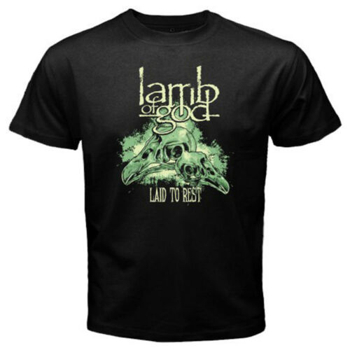 New Lamb of God LAID TO REST Metal Band Album Men/'s Black T-Shirt Size S to 3XL
